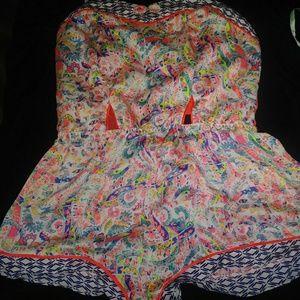 Victoria's Secret Floral Print Romper Pajamas